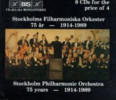 Stockholm Philharmonic - 75 Years 1914-1989