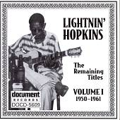 Lightnin' Hopkins: Remaining Titles: 1950-1961 Vol.1