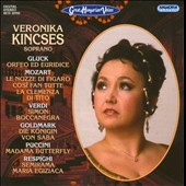 Great Hungarian Voices: Soprano Veronika Kincses sings arias from Marriage of Figaro, Cosi fan tutte, Simon Boccanegra, Madama Butterfly, Semirama et al.