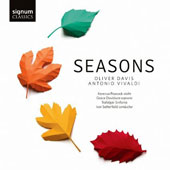 Oliver Davis (b.1972): Seasons, for soprano & orchestra; Vivaldi: The Four Seasons / Kerenza Peacock, violin; Grace Davidson, soprano; Trafalgar Sinfonia