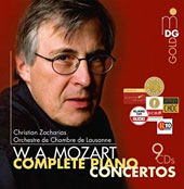 Mozart: Complete Piano Concertos / Christian Zacharias, piano; Lausanne CO [9 CDs]