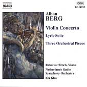 Berg: Violin Concerto, Lyric Suite, etc / E. Klas, R. Hirsch