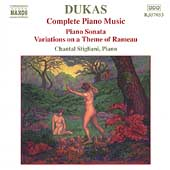 Dukas: Complete Piano Music / Chantal Stigliani