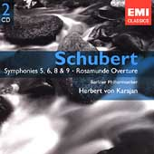 Schubert: Symphonies no 5, 6, 8 & 9 / Karajan, BPO
