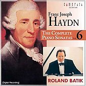 Haydn: The Complete Piano Sonatas Vol 6 / Roland Batik