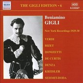 The Gigli Edition, Vol. 6: New York Recordings 1929-1930