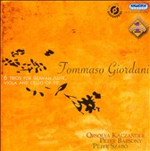 Tommaso Giordani: 6 Trios for German Flute, Viola and Cello