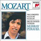 Mozart: Piano Concertos nos 22 & 24 / Perahia, English CO