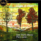 Eugen d'Albert: Solo Piano Music; Piers Lane, piano