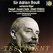 Elgar: Falstaff, Nursery Suite, etc / Sir Adrian Boult