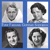 Four Famous German Sopranos