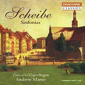 Scheibe: Sinfonias / Andrew Manze, Concerto Copenhagen