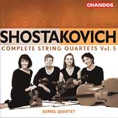 Shostakovich: Complete String Quartets Vol 5/Sorrel