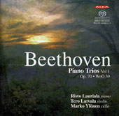 Beethoven: Piano Trios Op. 70/1 & 2; Trio in B Flat, WoO39 / Risto Lauriala, piano; Tero Latvala, violin; Marko Ylonen, cello