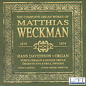 Weckman: The Complete Organ Works / Hans Davidsson