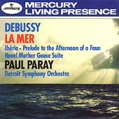 Debussy: La Mer, Ibéria, etc;  Ravel / Paray, Detroit SO
