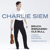 Bull, Wieniawski & Bruch Violin Concertos / Charlie Siem, violin