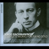 Sergey Rachmaninov: Piano Works Solo / Pieter-Jelle de Boer, Mariana Izman, Thomas Beijer and Hanna Shybayeva