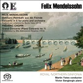 Mendelssohn: Piano Concerto in E (completed by Martin Yates); Chopin: Grand Concerto (no 1), orchestrated by Balakirev