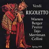 Verdi: Rigoletto / Cellini, Peerce, Warren, Tajo, et al