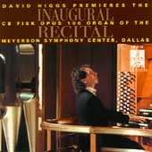 Inaugural Recital / David Higgs