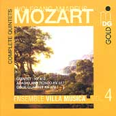 Mozart: Complete Quintets Vol 4 / Ensemble Villa Musica