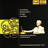 SIbelius: Symphony no 2, En Saga, Luonnotar / Davis, et al