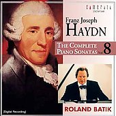 Haydn: The Complete Piano Sonatas Vol 8 / Ronald Batik