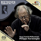 Beethoven: Symphony no 2 & 6 / Herrewegh, Royal Flemish PO