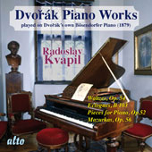 Dvorak: Piano Works Played on Dvorák's Own Bösendorfer Piano, Vol 2 / Radoslav Kvapil