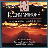 Rachmaninoff: Works for Piano and Orchestra / Simon, Slatkin