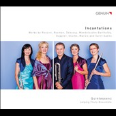 'Incantations' - transcriptions for flute ensemble of works by Rossini, Rozman, Debussy, Mendelssohn, Doppler, Clarke, Marais, Saint-Saens / Leipzig Flute Ensemble