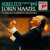 Sibelius: Symphonies no 4 & 5 / Maazel, Pittsburgh SO