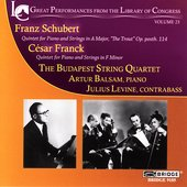 Library of Congress Recordings Vol 23 / Budapest Quartet