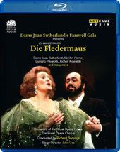 Dame Joan Sutherland's Farewell Gala & Performance, live 1990 - Johann Strauss: Die Fledermaus, complete plus arias & scenes / Marilyn Horne & Luciano Pavarotti [Blu-ray]
