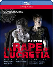 Britten: The Rape of Lucretia / Christine Rice, Allan Clayton, Kate Royal, Duncan Rock, Matthew Rose, Michael Sumuel. London PO, Hussain (live, at Glyndebourne, 2016) [Blu-ray]
