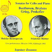 Sonatas for Cello & Piano by Beethoven, Brahms, Grieg, Prokofiev,