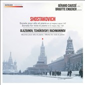 Shostakovich, Glazunov, Tchaikovsky & Rachmaninov: Works for Viola & Piano / Gerard Causse, Brigitte Engerer
