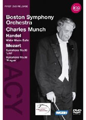 Handel: Water Music Suite; Mozart / Charles Munch, Boston Symphony [DVD]