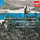 Gemini - Bruch: Symphony no 1, 2 & 3, Concerto for 2 Pianos / Nathan Twining, Martin Berkovsky, James Conlon, Antal Dorati, et al