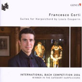 Suites for Harpsichord by Louis Couperin / Francesco Corti, harpsichord