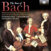 The Sons of Bach: Symphonies; Concertos; Chamber Music of W.F., C.P.E., J.C.F. and J.C Bach / Bart van Oort, fortepiano [10 CDs]