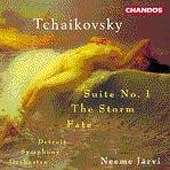 Tchaikovsky: Suite no 1, The Storm, etc / Järvi, Detroit SO