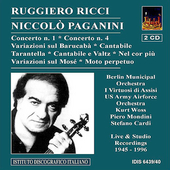 Paganini: Violin Concertos no 1 & 4, etc / Ruggiero Ricci