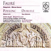 Faur&#233;: Requiem, Messe Basse;  Poulenc, Durufl&#233; / Philip Ledger, et al