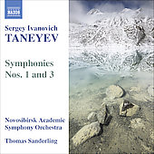 Taneyev: Symphonies no 1 and 3 / Sanderling, Novosibirsk SO
