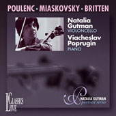 Poulenc, Myaskovsky, Britten: Cello Sonatas / Gutman, Poprugin