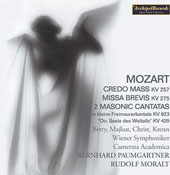 Mozart: Credo Mass, Missa Brevis, etc / Paumgartner, et al
