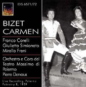 Bizet: Carmen / Dervaux, Simionato, Corelli, Freni, et al