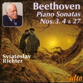 Beethoven: Piano Sonatas Nos. 3, 4, 27 / Sviatoslav Richter